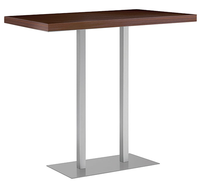 rechteckiger Tisch in dunkelbraun